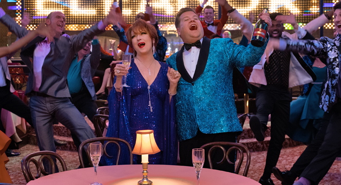 Meryl Streep and James Corden in The Prom