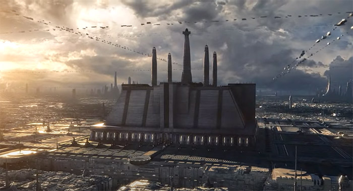 Jedi temple in video game Star Wars: The Old Republic video game