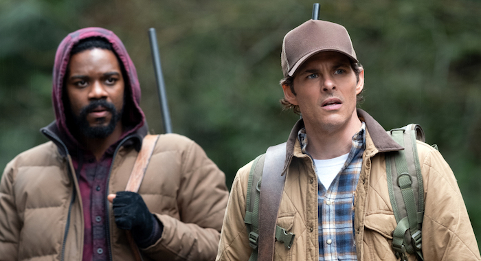 Jovan Adepo and James Marsden in The Stand