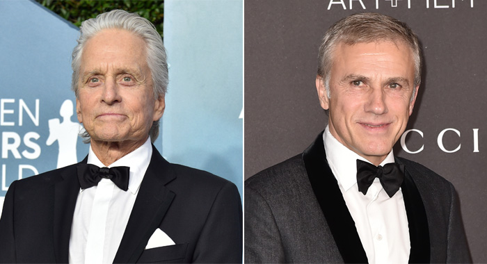 Michael Douglas and CHristoph Waltz