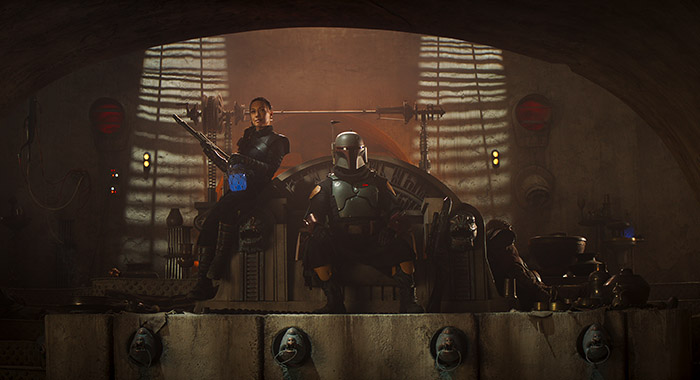 Fennec Shand (Ming-Na Wen) and Boba Fett (Temuera Morrison) in The Mandalorian, season two