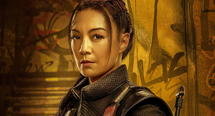 Ming-Na Wen as Fennec Shand in a Mandalorian season 2 character poster