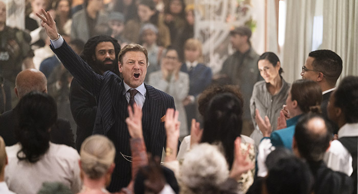 Daveed Diggs, Sean Bean and Jennifer Connelly in Snowpiercer, season 2