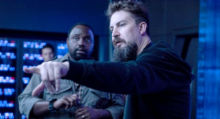 Adam Wingard and Brian Tyree Henry