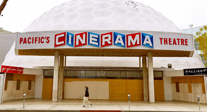 Cinerama Dome theater in Los Angeles