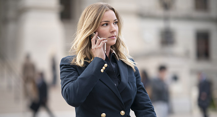 Emily VanCamp in Marvel Studios' THE FALCON AND THE WINTER SOLDIER