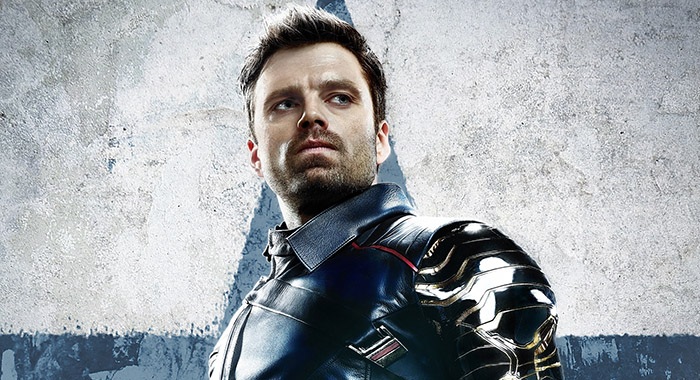 Sebastian Stan in Winter Soldier poster for Marvel Studios' THE FALCON AND THE WINTER SOLDIER