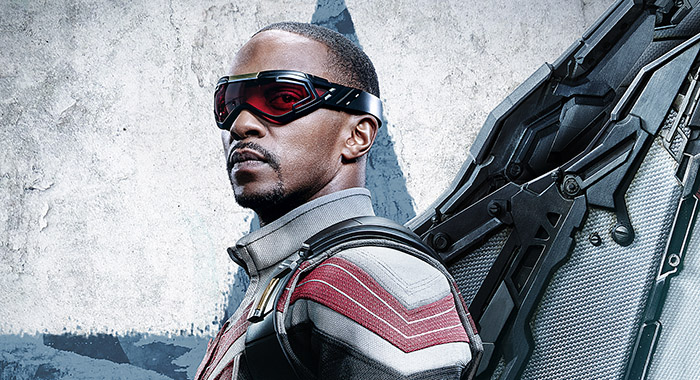 Anthony Mackie in Falcon poster for Marvel Studios' THE FALCON AND THE WINTER SOLDIER