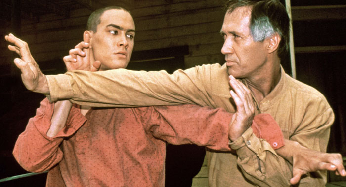 Brandon Lee and David Carradine in Kung Fu: The Movie (1986)