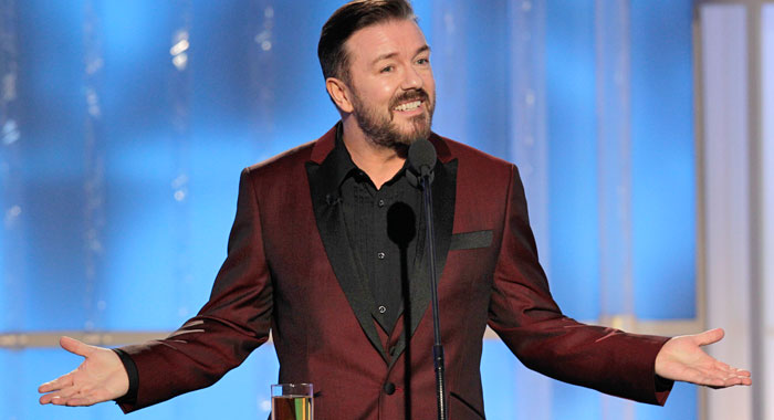 Ricky Gervais hosts the 2012 Golden Gloves