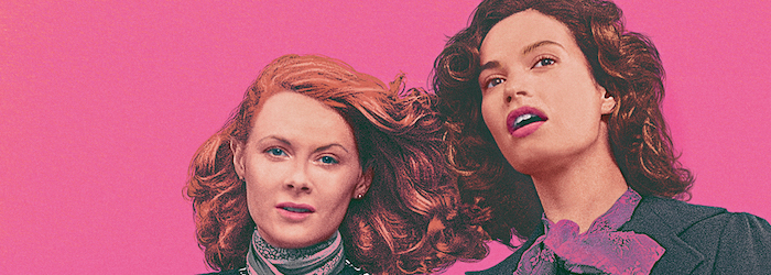 Emily Beecham and Lily James in The Pursuit of Love (Amazon Prime Video)
