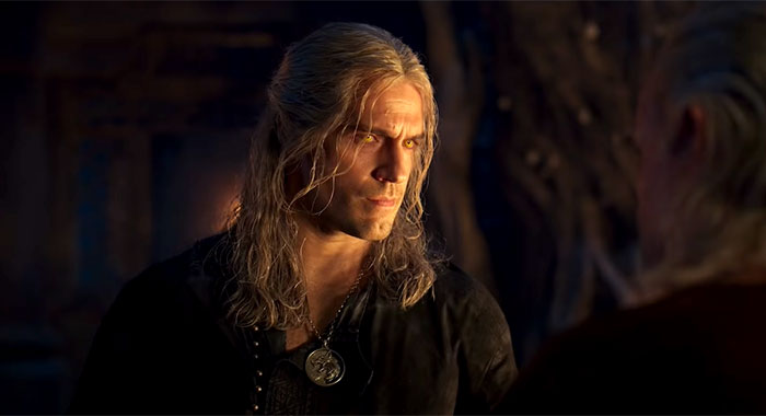 Henry Cavill in The Witcher season 2 trailer screencap