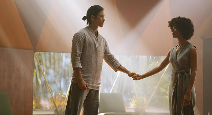 Manny Jacinto and Tiffany Boone in Nine Perfect Strangers