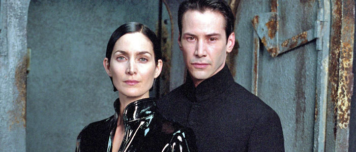 Carrie-Anne Moss and Keanu Reeves in The Matrix Revolutions