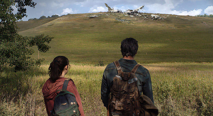 Pedro Pascal and Bella Ramsey star as Joel and Ellie in The Last of Us