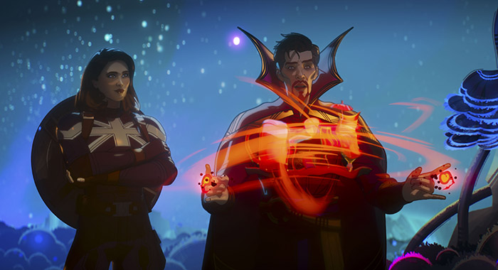 Captain Carter and Doctor Strange Supreme in Marvel Studios' WHAT IF…?