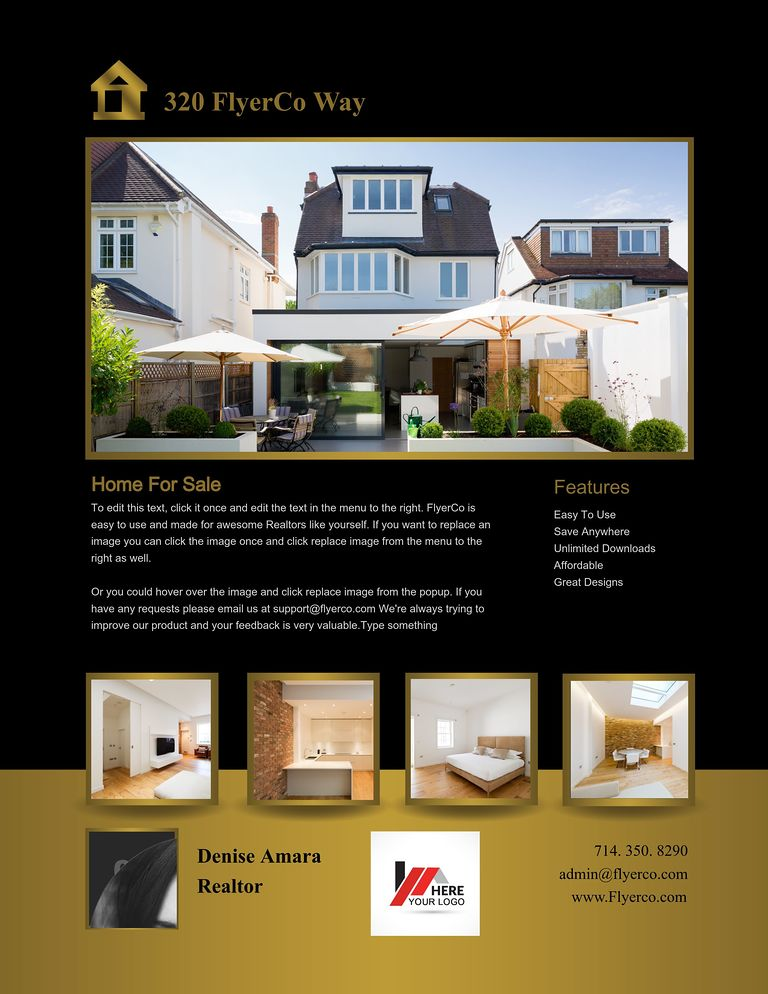 Listing Flyer  Home For Sale Brochure