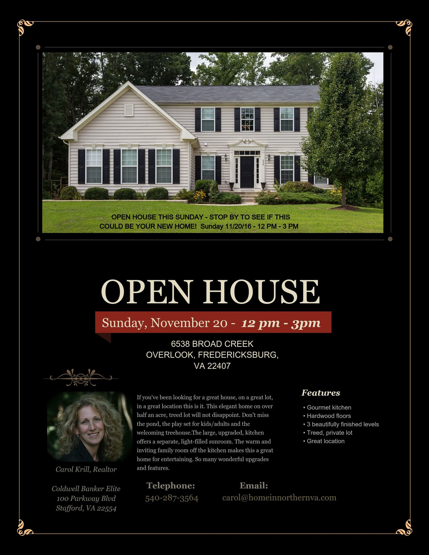 Broad Creek Overlook - Open House Flyer Copy