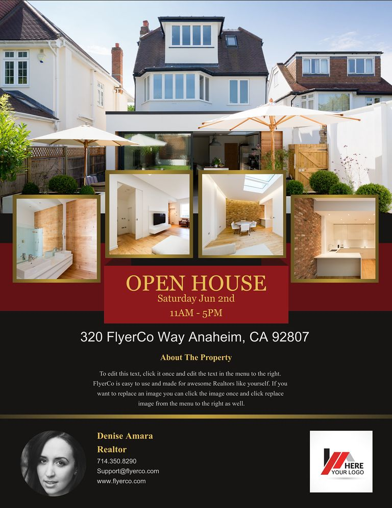 Real Estate Flyer and Postcard Templates by FlyerCo – Real Estate Open House Flyer Template