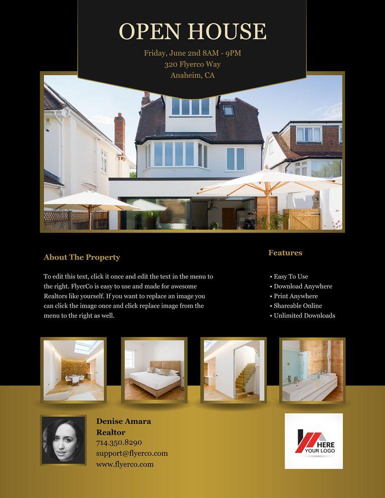 open house brochure template - flyerco flyer maker luxury collection