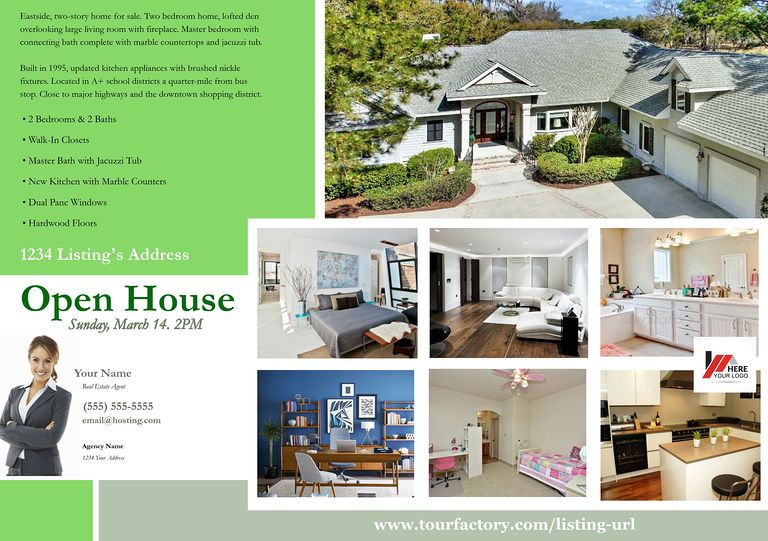 Jumbo Postcards (8in X 5in) Real Estate Postcard #13  Home For Sale Brochure