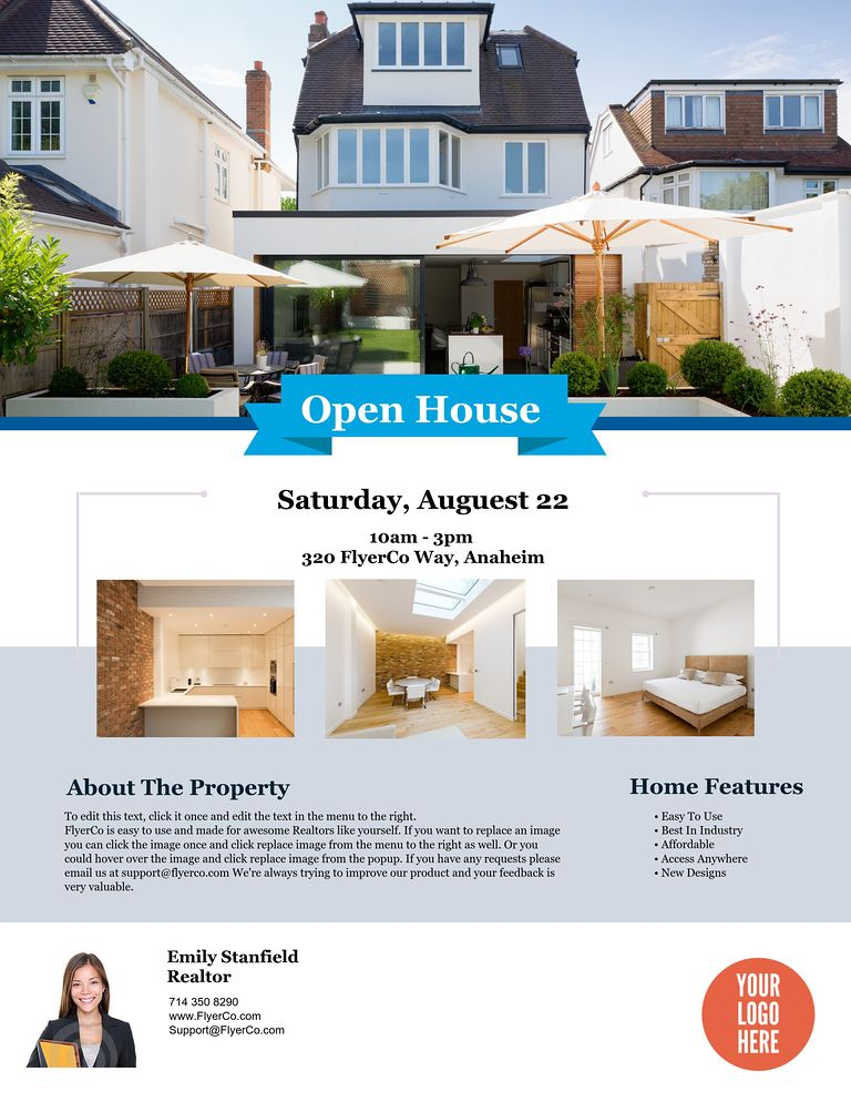 open house flyer templates