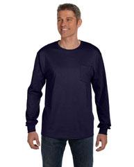 Hanes Men's 6 oz. Authentic-T Long-Sleeve Pocket T-Shirt 5596