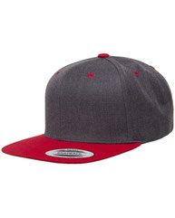 Yupoong Adult 6-Panel Structured Flat Visor Classic Two-Tone Snapback 6089MT