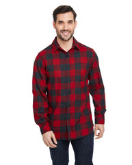 Burnside Woven Plaid Flannel With Biased Pocket