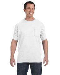 Hanes Men's 6 oz. Authentic-T Pocket T-Shirt H5590