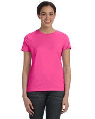 Hanes Ladies' 4.5 oz., 100% Ringspun Cotton nano-T® T-Shirt SL04