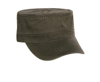 Superior Garment Washed Cotton Twill w/ Heavy Stitching Military Style Caps