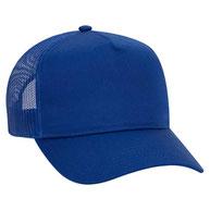 Cotton Twill Five Panel Pro Style Mesh Back Caps