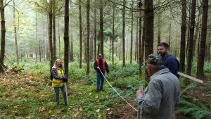 Students learn about forest inventory
