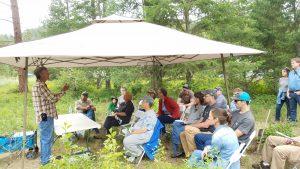 Outdoor class of landowners