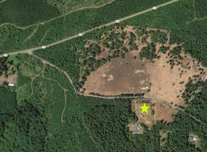 Map showing Wildcat Tree Farm