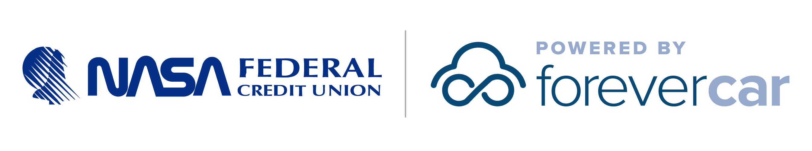 NASA Federal Credit Union Powered by ForeverCar Logo