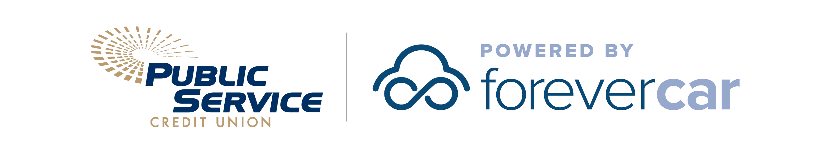 Public Service Credit Union Powered by ForeverCar Logo