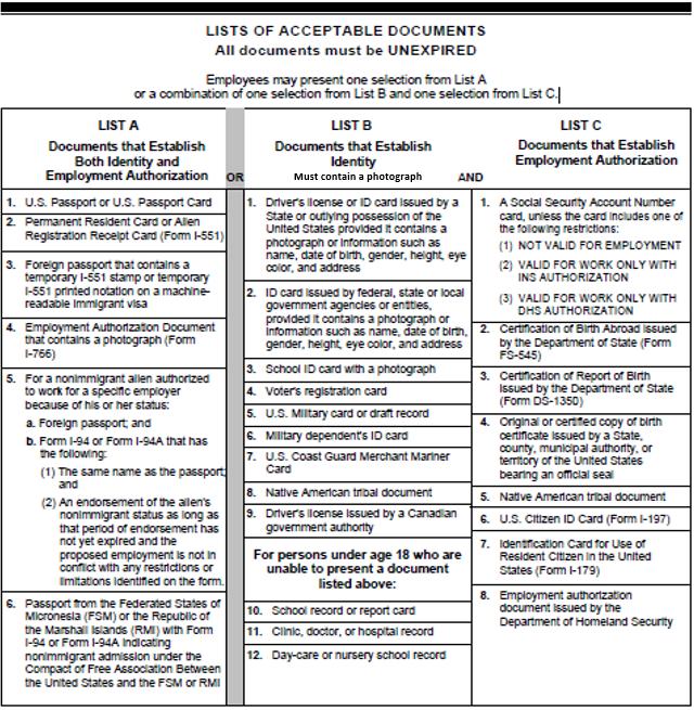 Amazon Com Applicationhelp >> Form I 9 Faqs