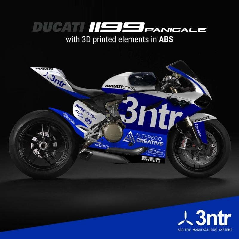 3ntr Parts on a Ducati Motorcycle