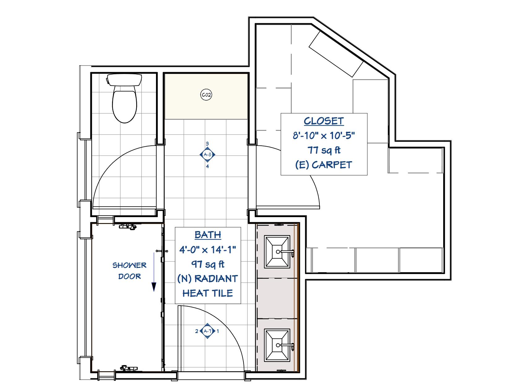 beck bathroom floorplan