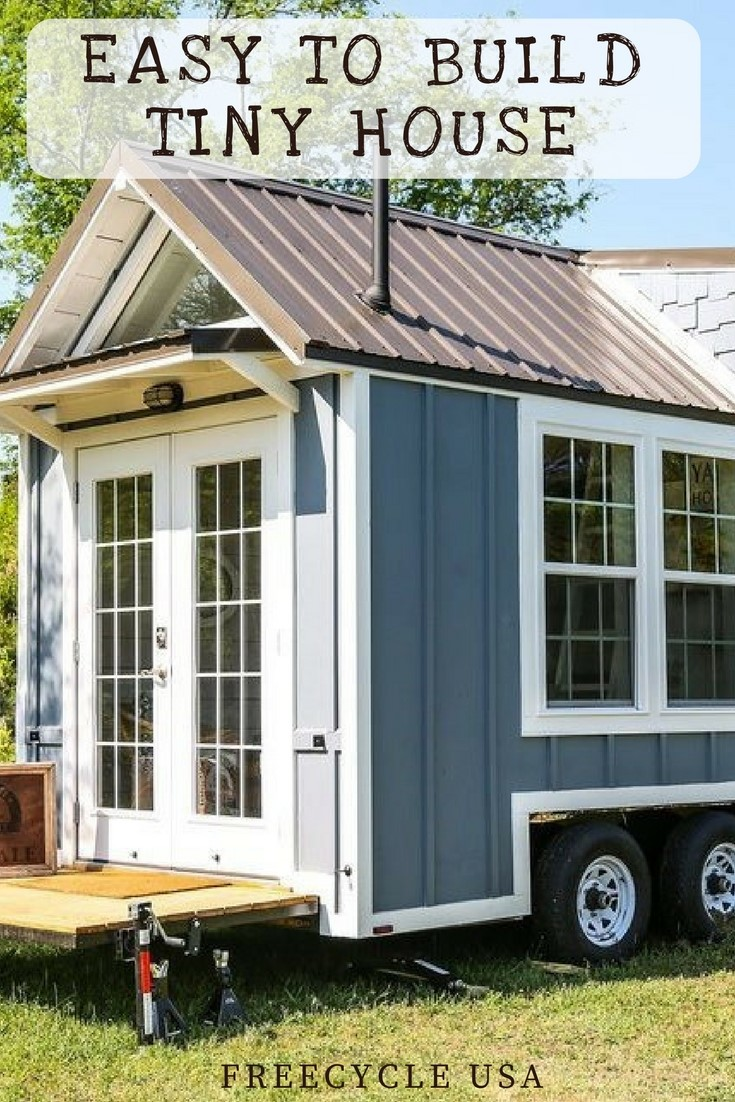 easy to build little tiny house plans freecycle usa. Black Bedroom Furniture Sets. Home Design Ideas