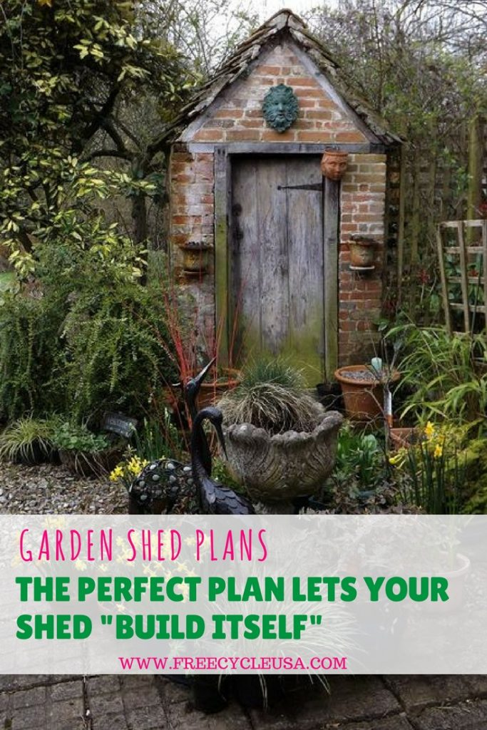 Garden Shed Plans A Perfect Plan Lets Your Shed BUILD ITSELF – Garden Shed Plan