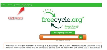 Freecycle Login and Sign Up