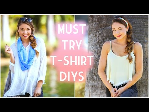 Easy DIY Re-purpose your Shirts for Spring and Summer