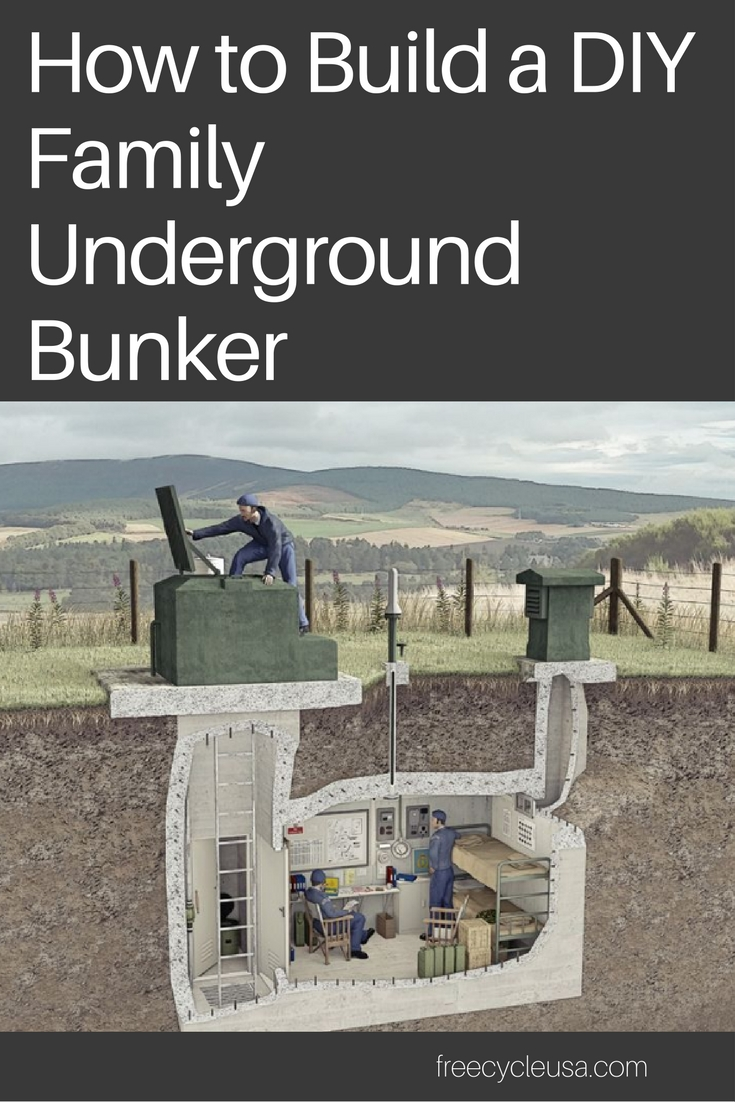 Family Bunker Plans Freecycle Usa