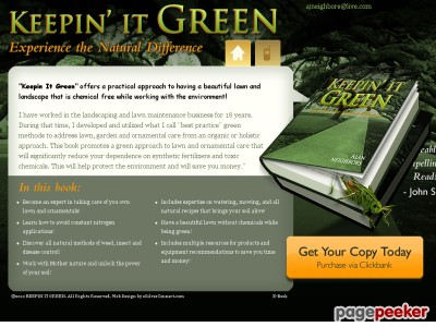 Keepin It Green, Lawn Care Book, Garden Care Book