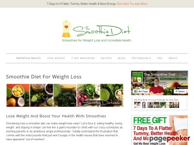 Smoothies For Weight Loss – The Smoothie Diet