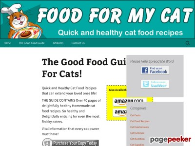 The Good Food Guide For Cats : Purrfect Homemade Cat Food Recipes