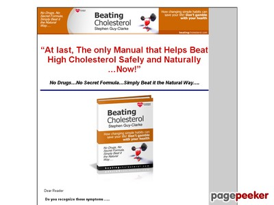 Beating Cholestrol…